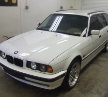 white e34 wagon